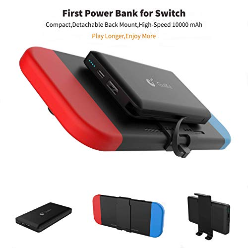 Portable Power Bank for Nintendo Switch - 10000mAh Rechargeable Extended Battery Charger Case - Compact Travel Backup Battery Pack for Nintendo Switch by Emperor of Gadgets®
